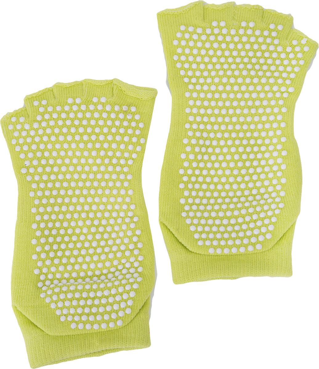 Носки противоскользящие для занятий йогой Bradex, с открытыми пальцами и подъемом. Размер 35/41  #1